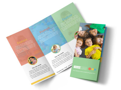 Good Times Daycare Tri-Fold Brochure Template preview