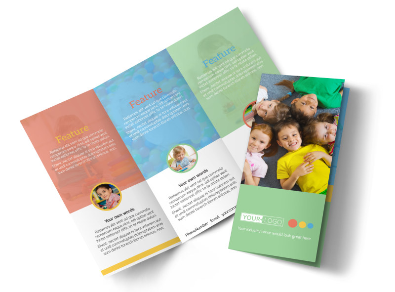 good times daycare brochure template