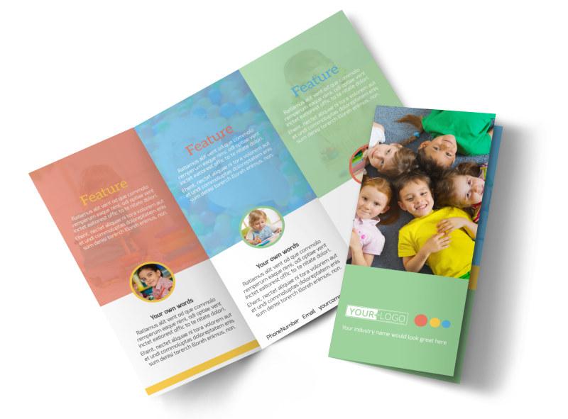 Good Times Daycare Brochure Template Mycreativeshop