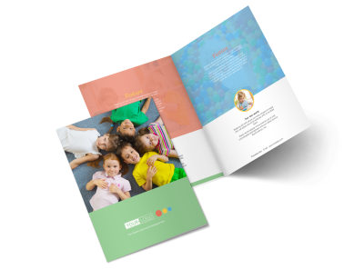 Good Times Daycare Bi-Fold Brochure Template preview