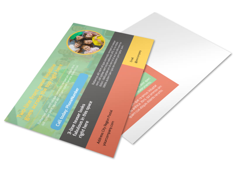 Good Times Daycare Postcard Template