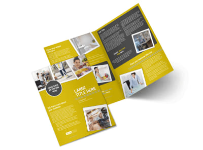 Housekeeping Service Bi-Fold Brochure Template preview
