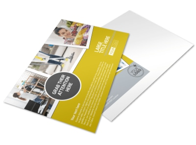 Housekeeping Service Postcard Template preview