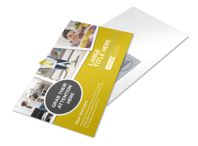 Housekeeping Service Postcard Template