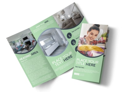 House Cleaning Tri-Fold Brochure Template preview