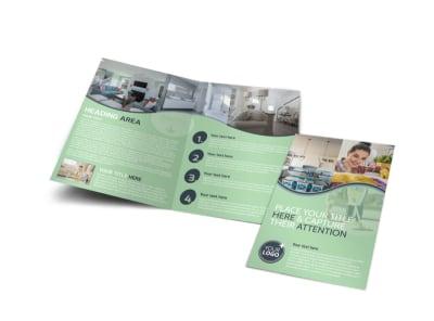 House Cleaning Bi-Fold Brochure Template