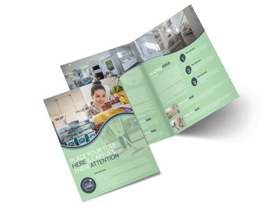 House Cleaning Bi-Fold Brochure Template preview