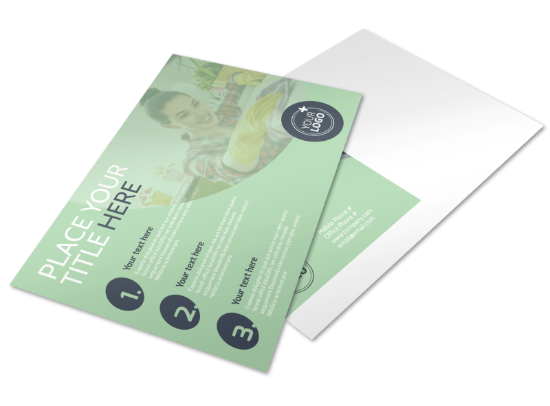 House Cleaning Postcard Template Preview 1