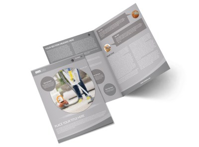 Carpet & Upholstery Cleaners Bi-Fold Brochure Template preview
