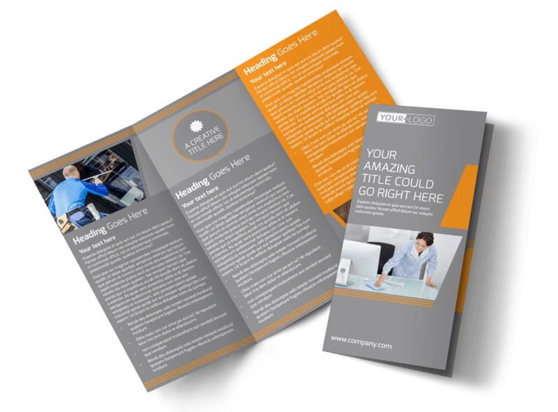 Commercial Cleaning Solutions Tri-Fold Brochure Template