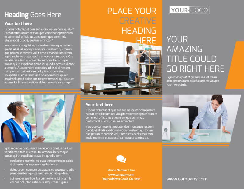 Commercial Cleaning Solutions Brochure Template Preview 2