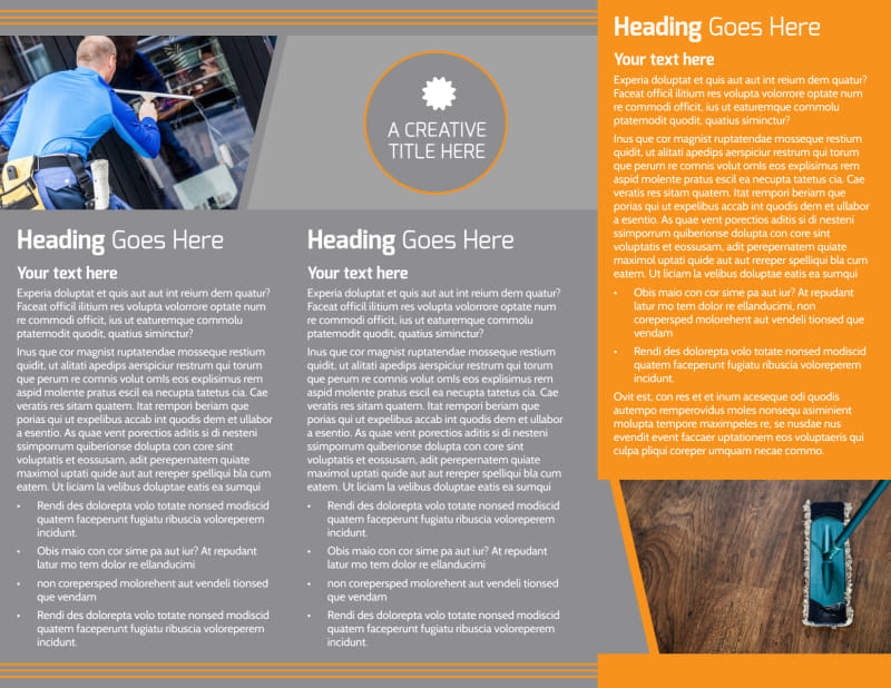 Commercial Cleaning Solutions Brochure Template Preview 3
