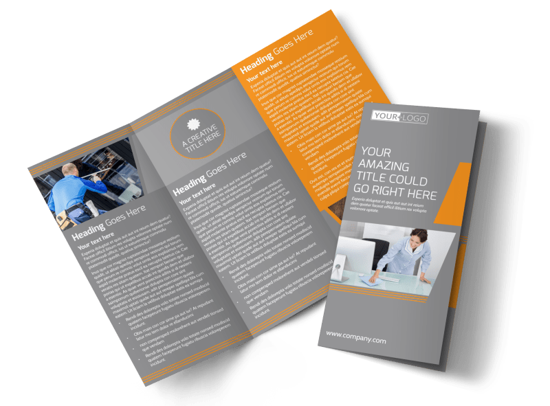 Commercial Cleaning Solutions Brochure Template Preview 1