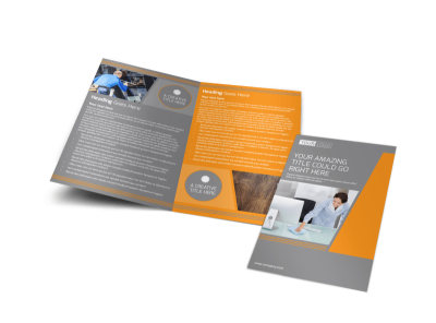 Commercial Cleaning Solutions Bi-Fold Brochure Template preview
