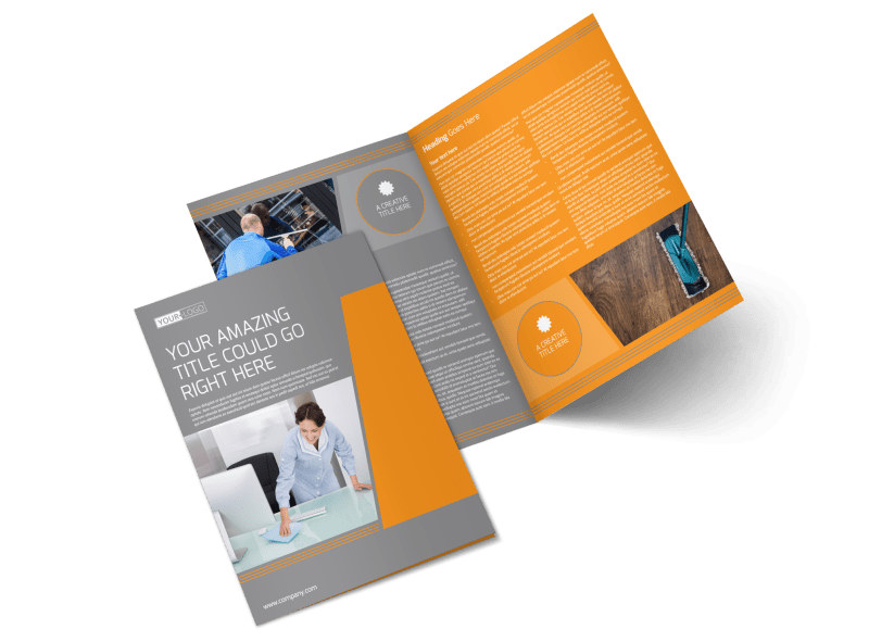 Commercial Cleaning Solutions Bi-Fold Brochure Template