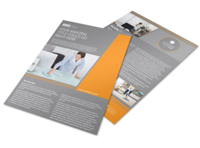 Commercial Cleaning Solutions Flyer Template preview