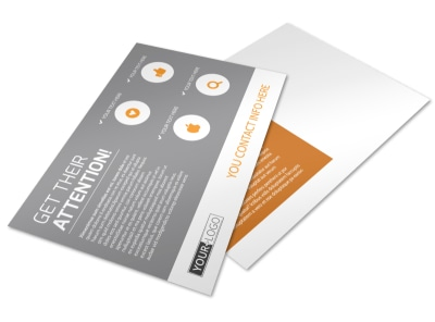 Commercial Cleaning Solutions Postcard Template preview