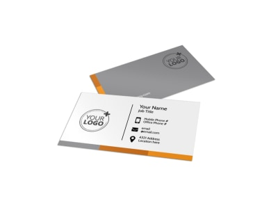 Commercial Cleaning Solutions Business Card Template preview