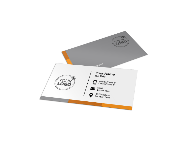 Commercial Cleaning Solutions Business Card Template Preview 1