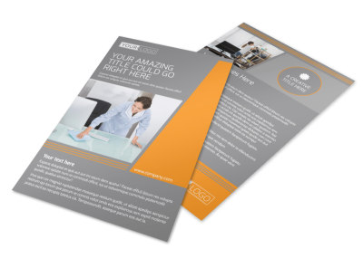 Commercial Cleaning Solutions Flyer Template MyCreativeShop - Commercial cleaning brochure templates