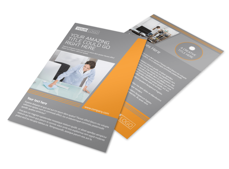 Commercial Cleaning Solutions Flyer Template Preview 1