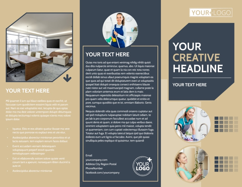 Commercial Cleaning Professionals Brochure Template Preview 2