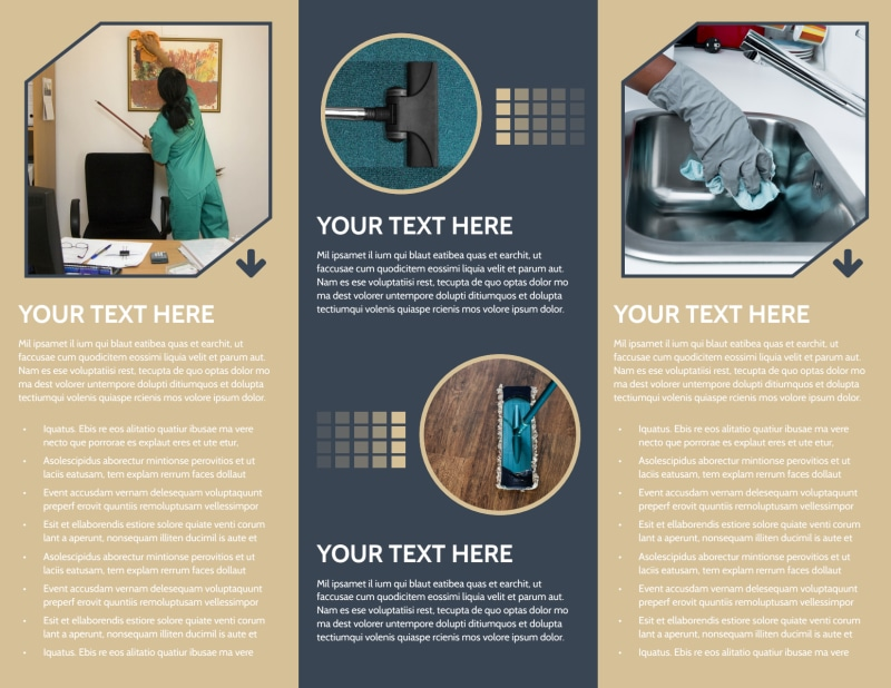 Commercial Cleaning Professionals Brochure Template Preview 3