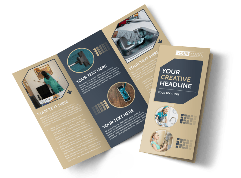 Commercial Cleaning Professionals Brochure Template Preview 1