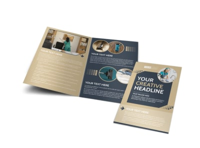 Commercial Cleaning Professionals Bi-Fold Brochure Template preview