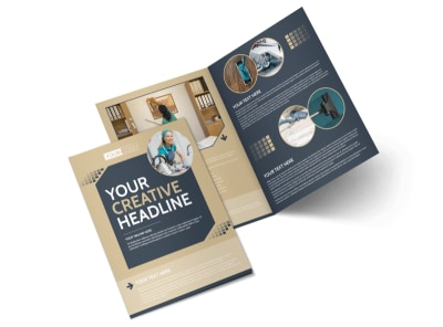 Commercial Cleaning Professionals Bi-Fold Brochure Template