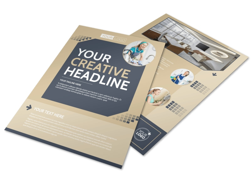 commercial cleaning brochure templates - commercial cleaning professionals flyer template