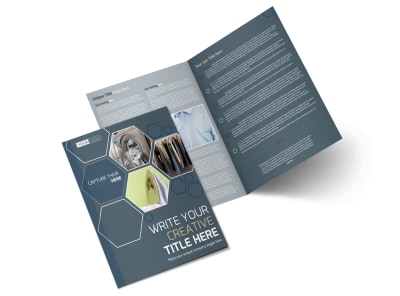 Local Dry Cleaners Bi-Fold Brochure Template preview