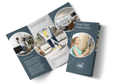 Office Cleaners Tri-Fold Brochure Template