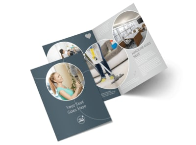Office Cleaners Bi-Fold Brochure Template