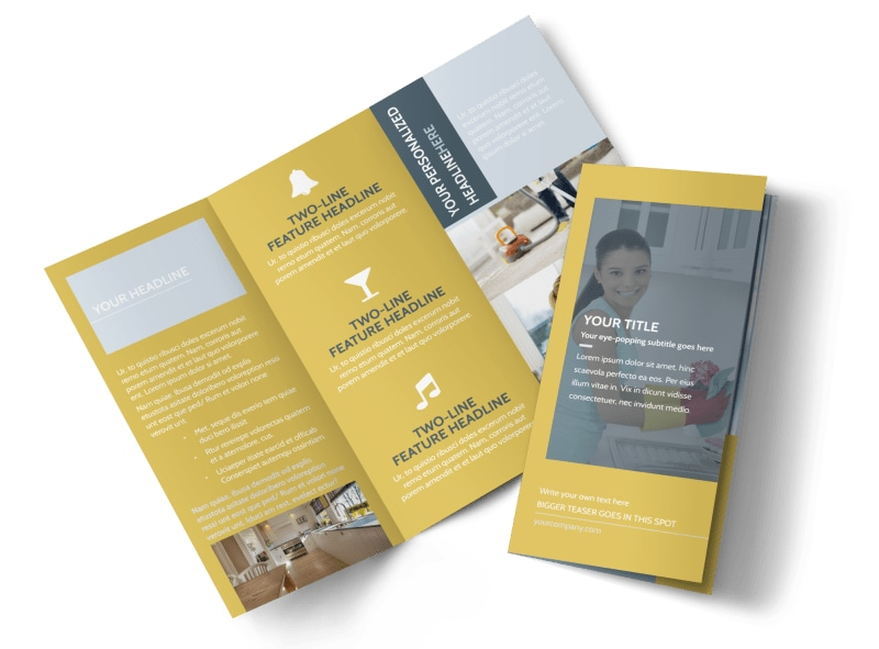 Apartment & Office Cleaners Tri-Fold Brochure Template