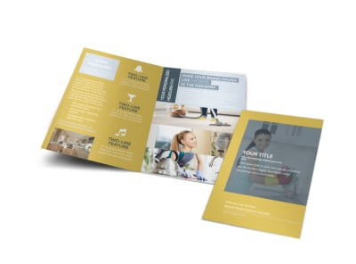Apartment & Office Cleaners Bi-Fold Brochure Template