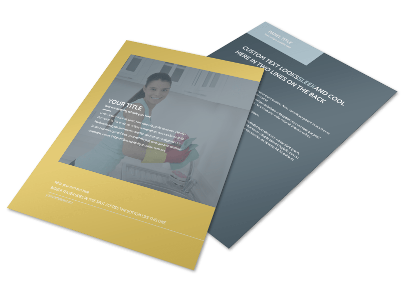 Apartment & Office Cleaners Flyer Template Preview 1
