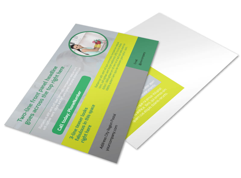 Bright Shine Cleaners Postcard Template