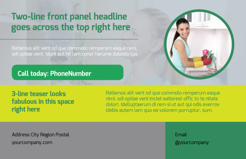 Bright Shine Cleaners Postcard Template Preview 2