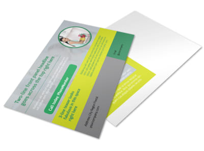 Bright Shine Cleaners Postcard Template preview