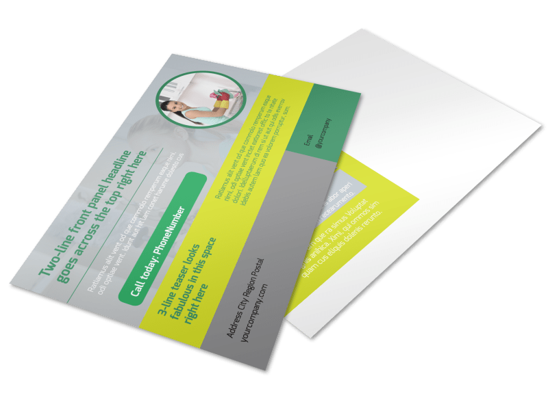 Bright Shine Cleaners Postcard Template Preview 1
