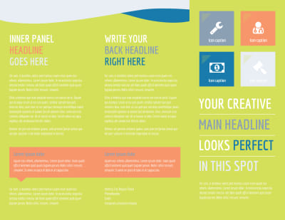 Completely Clean Brochure Template Preview 1
