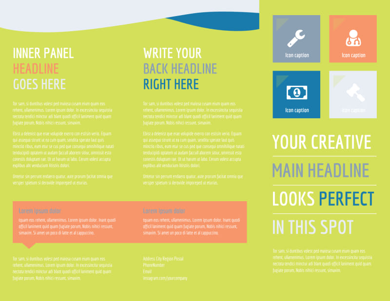 Completely Clean Brochure Template Preview 2