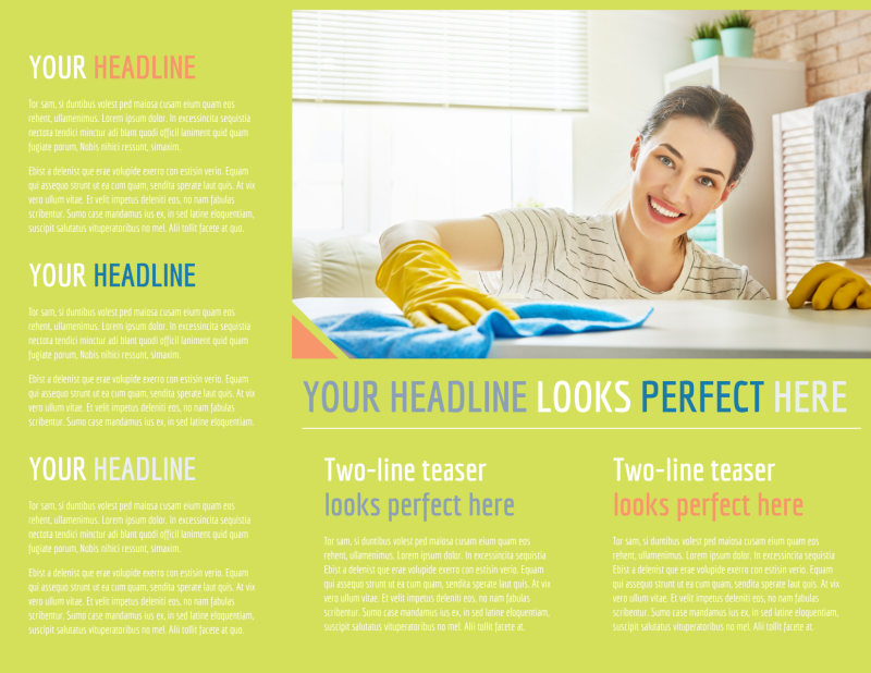 Completely Clean Brochure Template Preview 3