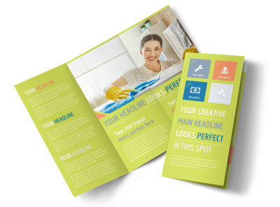 Completely Clean Tri-Fold Brochure Template preview