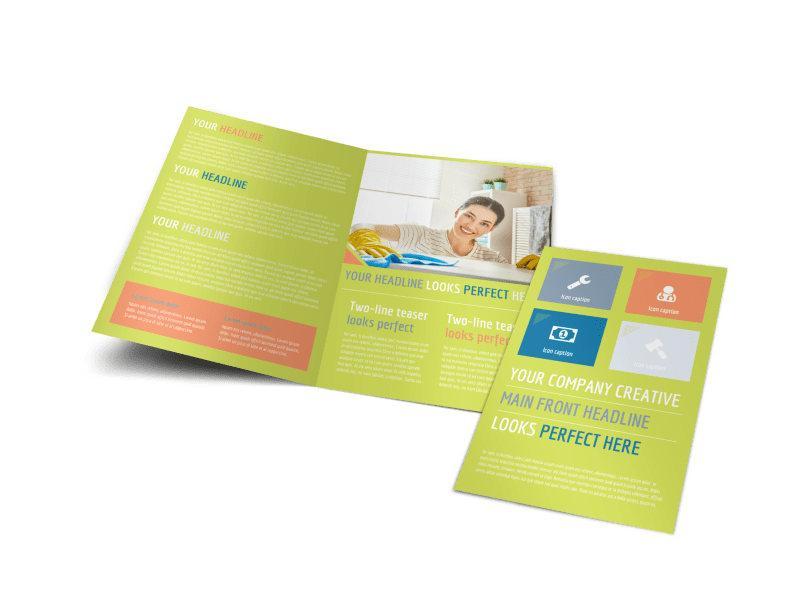 Completely Clean Bi-Fold Brochure Template