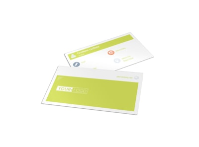 Completely Clean Business Card Template preview