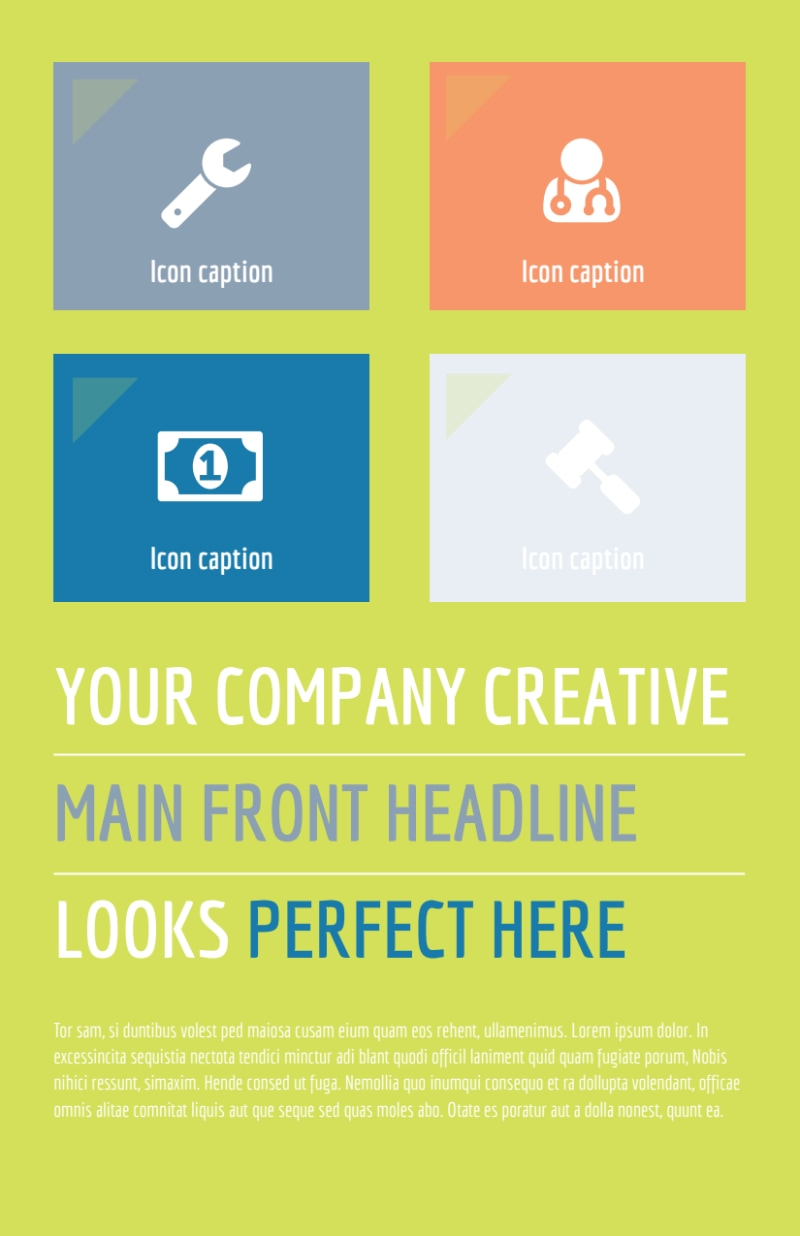 Completely Clean Flyer Template Preview 2