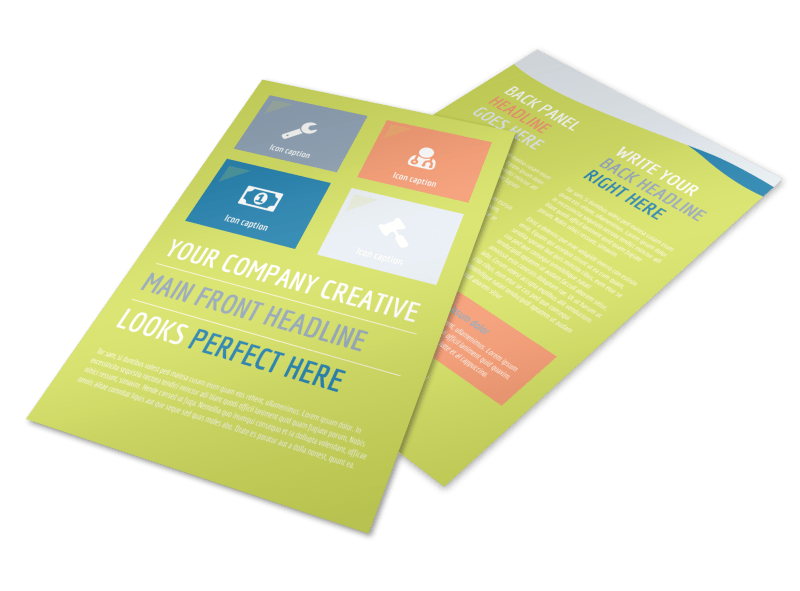 Completely Clean Flyer Template Preview 1