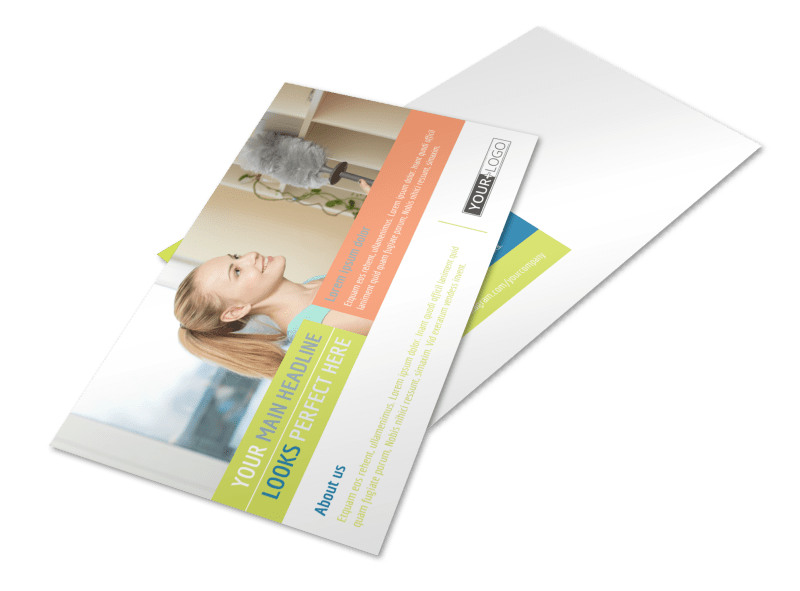 Completely Clean Postcard Template Preview 4